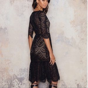 Nwt for love and lemons black lace dress
